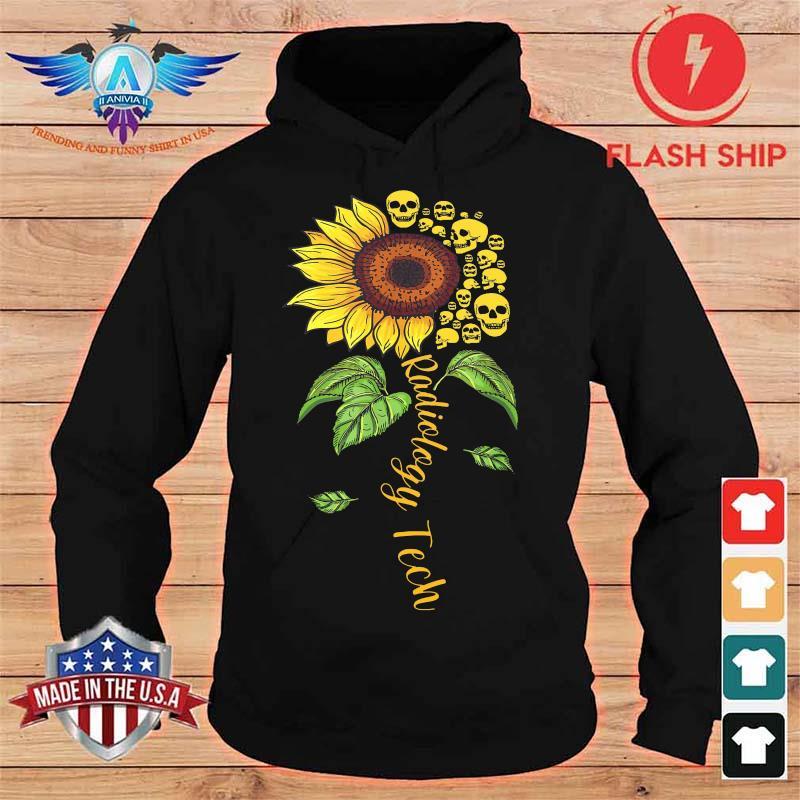 Radiology Tech Floral Sunflower Flower Skulls Shirt hoodie