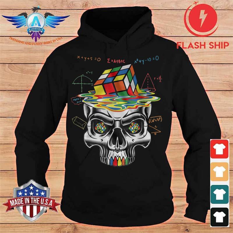 Skull Rubik Math Shirt hoodie