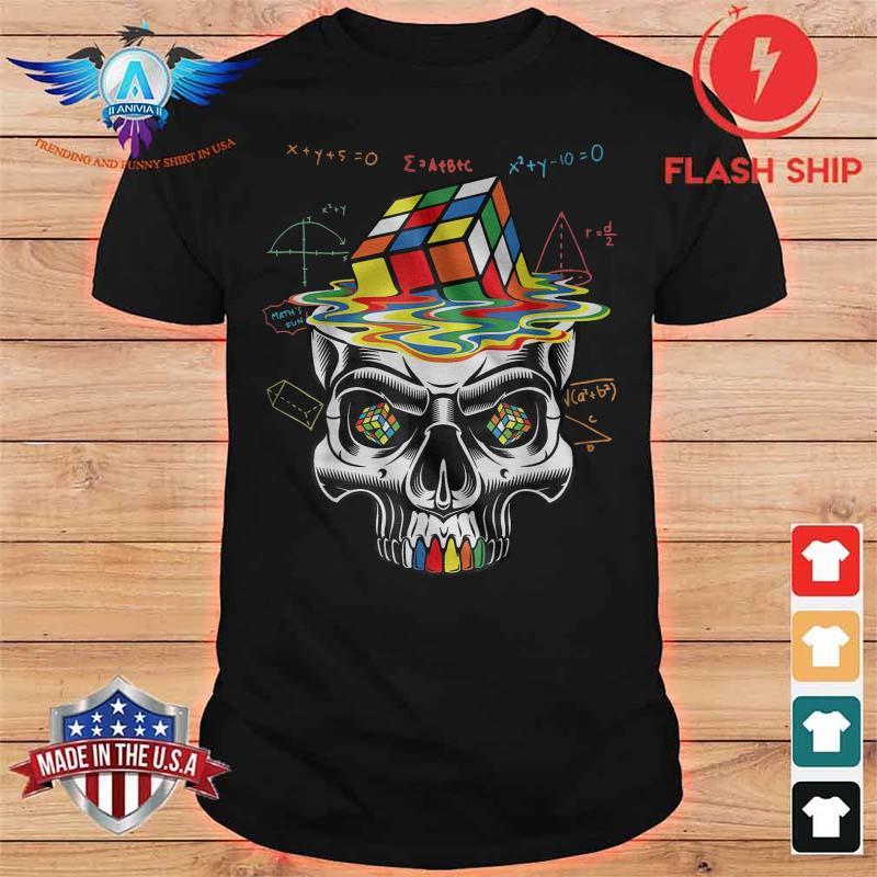 Skull Rubik Math Shirt